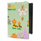 Cute Cartoon Patterns Rotatable Protective PU Leather Case for Ipad 2 / 3 / 4 - Multicolor