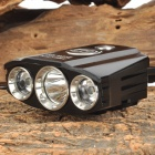 SMALL SUN T013 900lm 4-Mode White Bicycle Headlamp w/ 3 x CREE XM-L T6 - Black (4 x 18650)