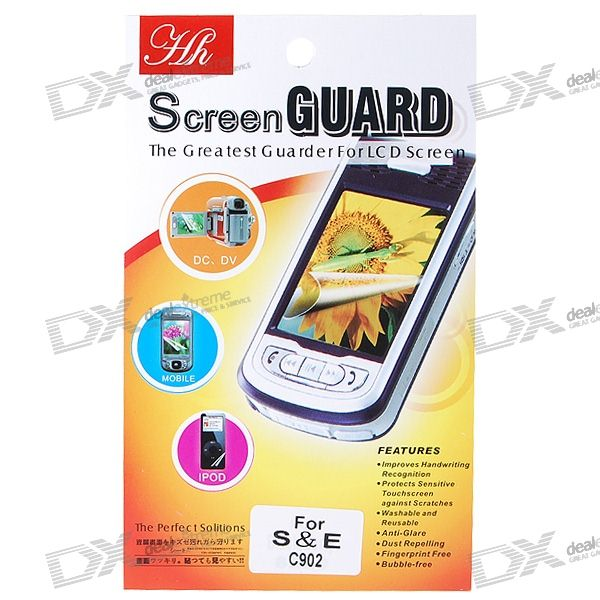Glare-free LCD Screen Protector for Sony Ericsson C902 (w/Cleaning Cloth)