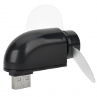 HK-F2039 Portable USB Powered Mini Fan - Black