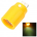 Mini 1W LED USB Powered Emergency Light Lamp for Mobile Power Bank - Yellow