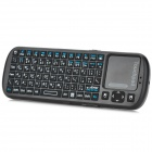 iPazzPort KP-810-19 Arabic Language Mini 2.4G Wireless 81-Key Keyboard - Black (2 x AAA)
