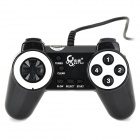 USB 2.0 Wired Gaming Controller for Computer - Black + Silver