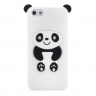 Panda Style Protective Silicone Case for Iphone 5 - White + Black
