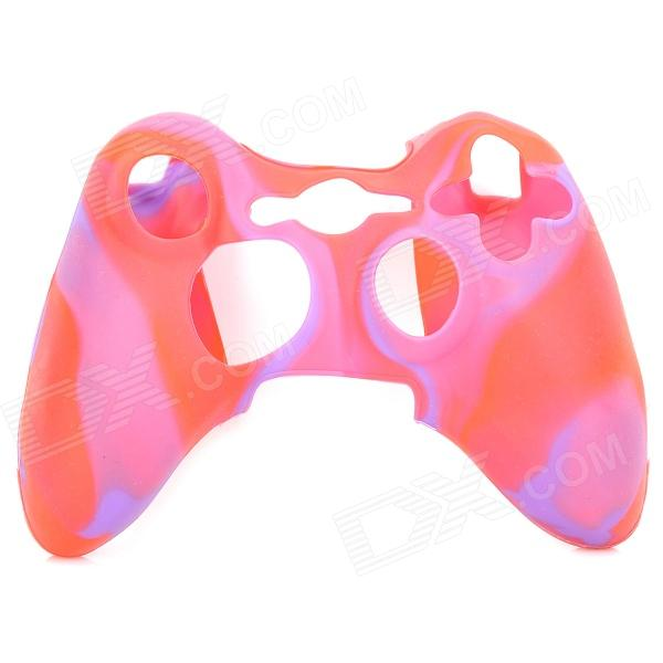 Protective Soft Silicone Case for XBOX360 Controller - Red + Purple protective silicone case for xbox one controller camouflage green