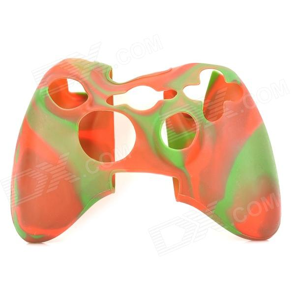 Protective Soft Silicone Case for XBOX360 Controller - Red + Green protective silicone case for xbox one controller camouflage green