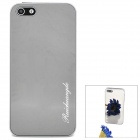Stylish Novel Toughened Organic Glass Mirror Shell Protective Back Case for Iphone 5 - Gray