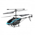 HS 817C 3.5-CH IR Control R/C Helicopter w/ Gyro / 300KP Camera / 1GB TF - Black + Blue