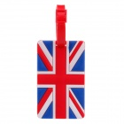 British Flag Style Travel PVC Bag / Luggage Tag w/ Strap - Red + Blue + White