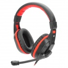 Cosonic CT-800 3.5mm Plug Headband Stereo Gaming Headphone w/ Microphone - Black + Red