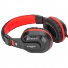 Cosonic CT-800 del enchufe de 3.5mm Venda Stereo Gaming Headphone w / micrófono - Negro + Rojo