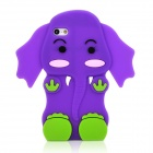 GEL070710 Netter Elefant Stil Silikon Tasche für iPhone 5 - Purple