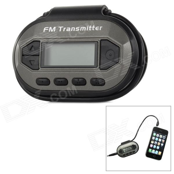 IPDA 1.3 Screen FM Transmitter w/ Car Charger for Iphone 5 / 4S / 4 niorfnio portable 0 6w fm transmitter mp3 broadcast radio transmitter for car meeting tour guide y4409b