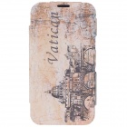 iTOP Palace Style Protective PU Leather Case w/ Screen Protector for Samsung Galaxy Note 2 N7100