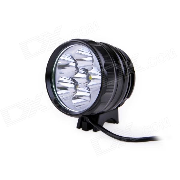 UltraFire D77 3000lm 3-Mode Cool White Bike Headlight w/ 6 x Cree XM-L T6 - Black (4 x 18650)