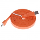 Flat Micro USB Male to USB 2.0 Male Data Sync / Charging Cable for Samsung Galaxy S3 i9300 - Orange