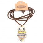 Fashionable Owl Style Necklace / Sweater Chain - Multicolored