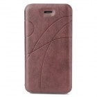 Stylish Protective PU Leather Case for Iphone 4 / 4S - Red Brown