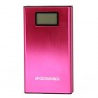 "PLY-1307 1,2 ""Display"" 20000mAh ""Dual-USB-Energien-Bank w / 5-Ladeadapter + Temperatur - Deep Pink"