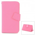 Newtop Protective PU Leather Case for Iphone 4 / 4S / 5 - Deep Pink (Size-M)
