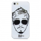 Cool Man Style Protective Plastic Back Case for Iphone 5 - White + Black