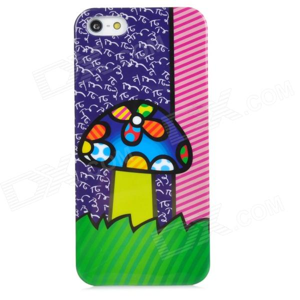 все цены на Protective Doodle Mushroom Pattern Plastic Back Case for Iphone 5 - Multicolor онлайн