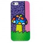 Protective Doodle Mushroom Pattern Plastic Back Case for Iphone 5 - Multicolor