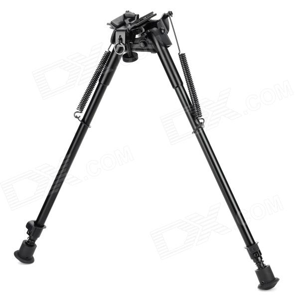 Hinged Base 20mm Rail Gun Aluminum Alloy Bipod - Black