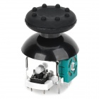 Replacement Plastic + Aluminum Analog / Joystick + Cap Set for Xbox 360 Wireless Controller - Black