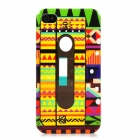 Tribal Style Patterned Protective Plastic Back Case for Iphone 4 / 4S - Multicolored