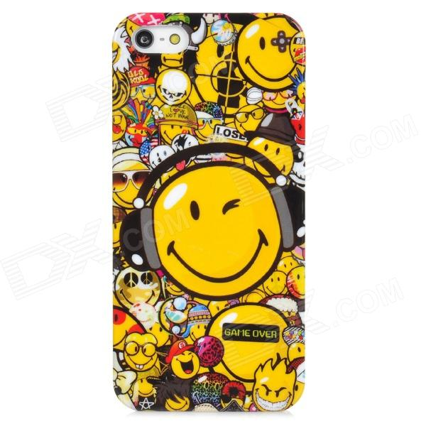 все цены на Protective Doodle Face Pattern Plastic Back Case f or Iphone 5 - Multicolor онлайн