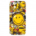 Protective Doodle Face Pattern Plastic Back Case f or Iphone 5 - Multicolor