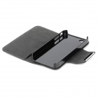 Stylish Protective PU Leather Case for Iphone 4 / 4S - Black