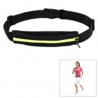 ARSUXEO Elastic Adjustable Cycling Waist Bag - Black + Fluorescent Green