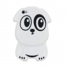 Cute 3D Dog Pattern Silicone Back Case for Iphone 4 / 4S - Black + White
