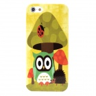 Mushroom and Owl Pattern Protective Plastic Case for Iphone 5