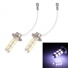 H3 12.5W 600lm 25-SMD 5630 LED Cool White Car Fog Light - (12V / 2 PCS)