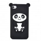 Protective Panda Pattern Silicone Back Case for Iphone 4 - Black + White