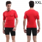 VEOBIKE Fitness Running Tight Quick-drying T-shirt for Men - Red (XXL)