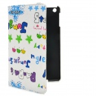 Cute Letters Pattern Protective Rotatable PU Leather Case w/ Stand for iPad Mini - Multicolored