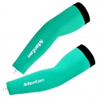 MONTON Cycling Arm Protection Oversleeves - Green + Black (Size XL)