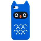 Protective Owl Style Silicone Back Case for iPhone 4 / 4S - Blue