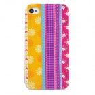 Protective Tribal Printing Pattern Plastic Back Case for Iphone 4 / 4S - Multicolor