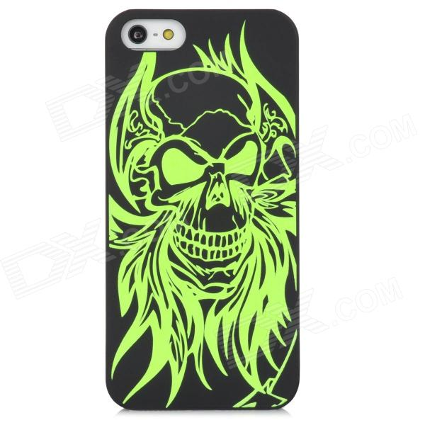 Glow-in-the-Dark Relief Devil Style Protective Plastic Back Case for Iphone 5 - Green + Black 150 density human hair full lace wigs for black women brazilian virgin hair kinky curly full lace wig glueless lace front wigs