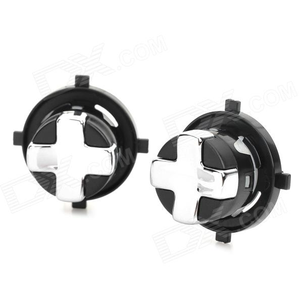 Replacement Roating Transforming D-Pad Botão para XBOX 360 Slim - Preto (2 PCS)