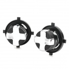 Replacement Rotating Transforming D-Pad Button for XBOX 360 Slim - Black (2 PCS)
