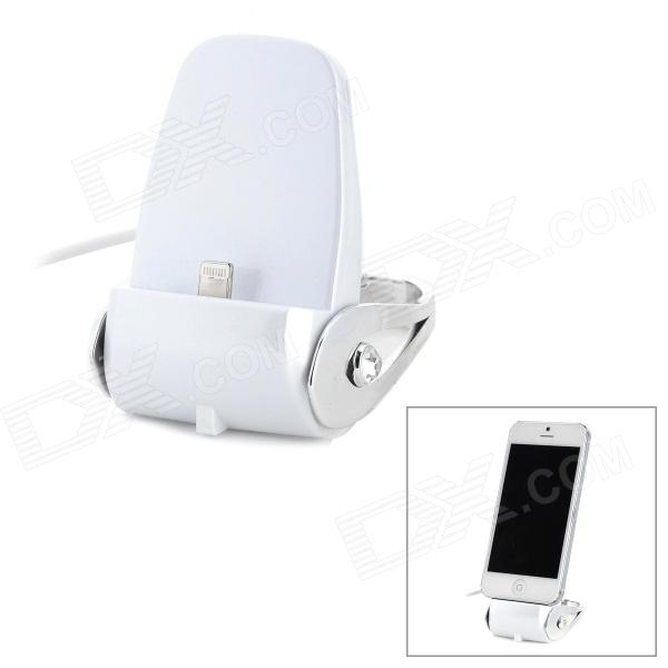 USB Wired 8 Pin Lightning Charging Docking Station for iPhone 5 / iPod Touch 5 / iPod Nano - White