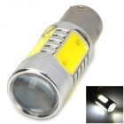 HX-16W 900lm 6500K 2-Cree XP-E + 4-COB LED White Light Car Headlamp - Silver + Yellow (10~30V)