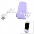 USB Wired 8 Pin Lightning Charging Docking Station for iPhone 5 / iPod Touch 5 - Light Purple