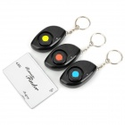 XYT-GS02 110dB Electronic Wireless RF Card Remote Control Key Finder w/ 3 Receivers - Black + Silver